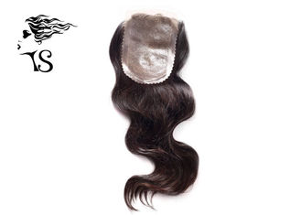 Skin Base Lace Front Human Hair Toppers, Air Wave Silk Frontal Hair Pieces